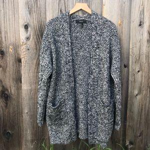 Chunky heather grey cardigan